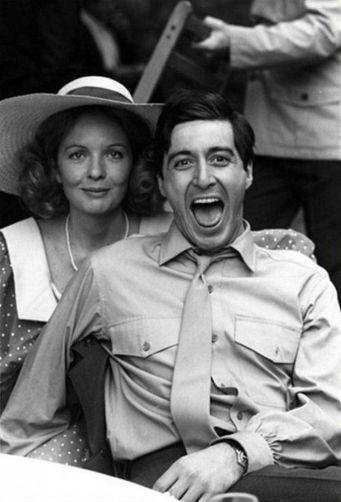 """Diane Keaton e Al Pacino sul set di """"Il Padrino"""""""