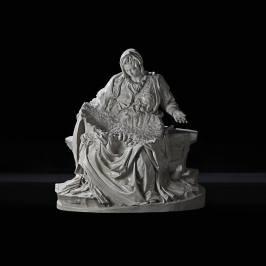 Fabio Viale, Pietà senza Cristo, 2018 Galleria Poggiali, Milano