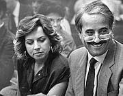 Giovanni Falcone insieme alla moglie Francesca Morvillo