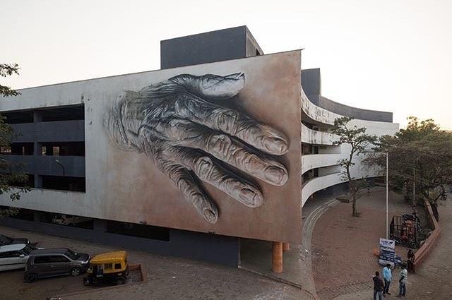 Guido van Helten @Goa, India