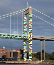 Lego Bridge in Gothenburg by Christo Guelov