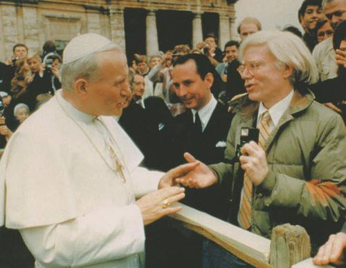 Papa Giovanni Paolo II e Andy Warhol, 1980