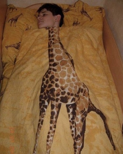 Piumino giraffa