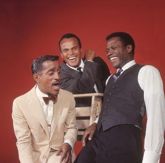 Sammy Davis, Jr., Harry Belafonte e Sidney Poitier