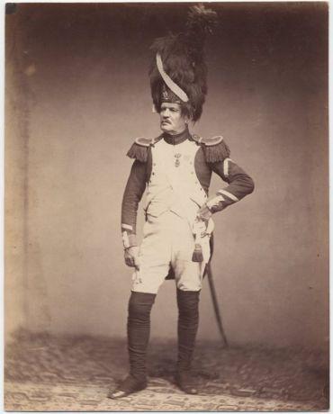 Veterano delle guerre napoleoniche nel 1858
