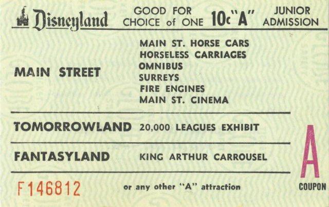 Biglietti Disneyland, 1960
