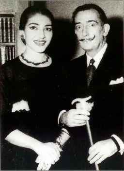 Maria Callas e Salvador Dalì