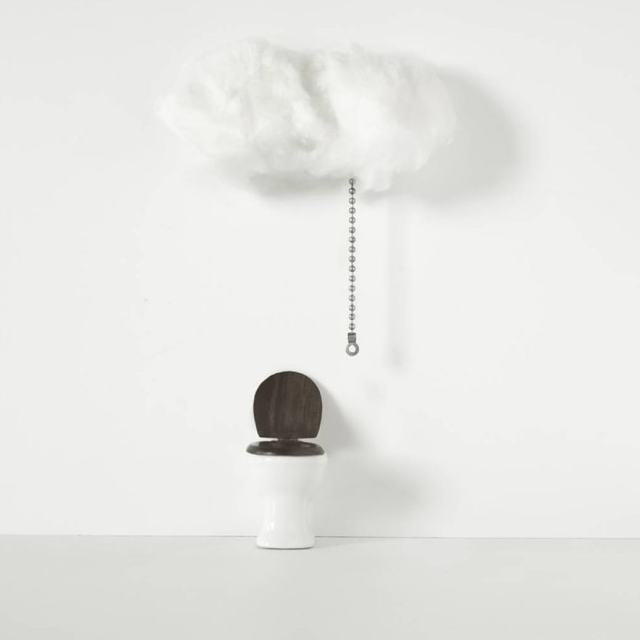 Cesso con nuvola pioggia incorporata