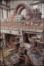 Decadimento industriale. Turbina a vapore