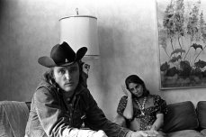 Dennis Hopper e l'allora moglie Daria Halprin a San Francisco (1972)