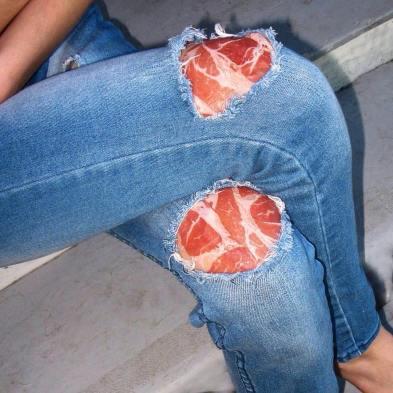Jeans toppe prosciutto crudo