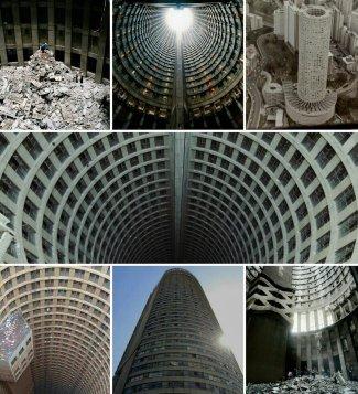 La torre di Ponte City a 52 piani di Johannesburg, la baraccopoli urbana più alta del mondo