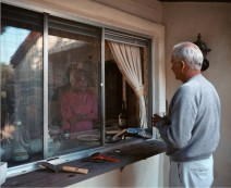 Larry Sultan - Pictures From Home - Conversation kitchen window, 1986