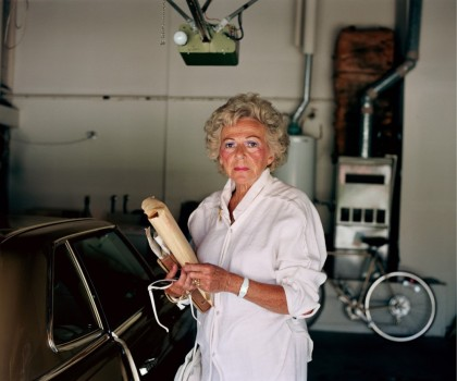 Larry Sultan - Pictures From Home - Mom garage portrait, 1988