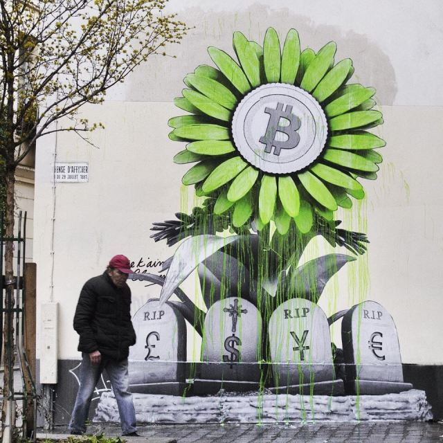 """R.I.P Banking System ... Power to the People"" by Ludo @Paris, France"