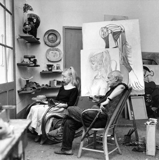 Pablo Picasso al lavoro