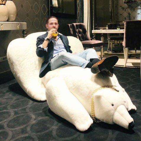 Poltrona orso bianco