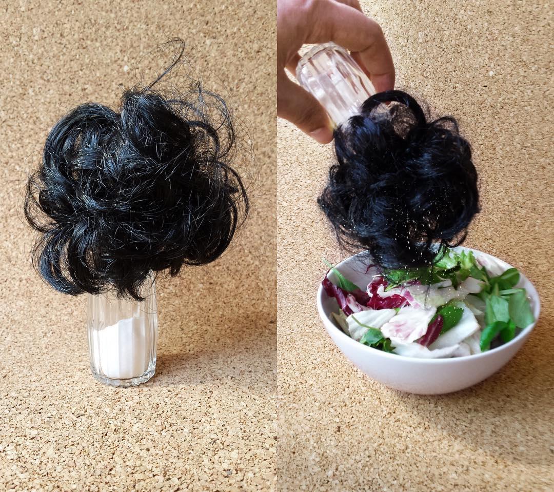 Saliera coi capelli