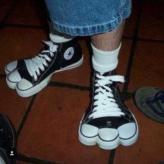Scarpe piedi palmati