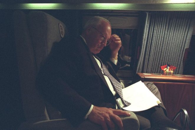 Scatto dall'interno della Casa Bianca l'11 settembre