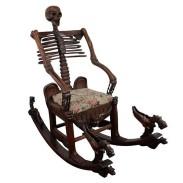 Sedia a dondolo scheletrica