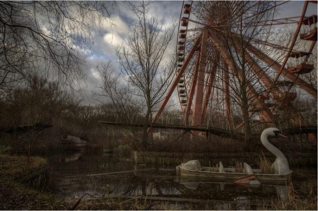 Spree Park In Berlino, Germania