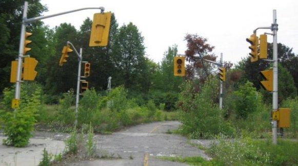 Vecchio incrocio vicino a Ottawa