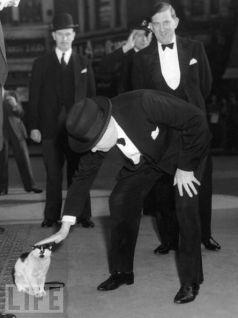 Winston Churchill con Kitty