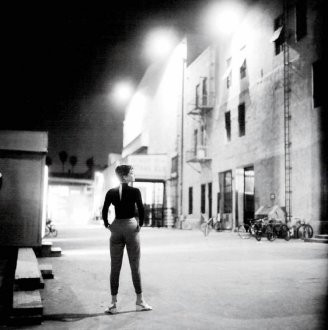 "Audrey Hepburn durante le riprese di ""Sabrina"", 1954"