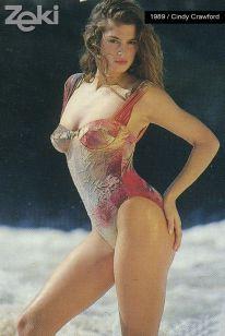 Cindy Crawford, Zeki Triko Photoshoot, 1989