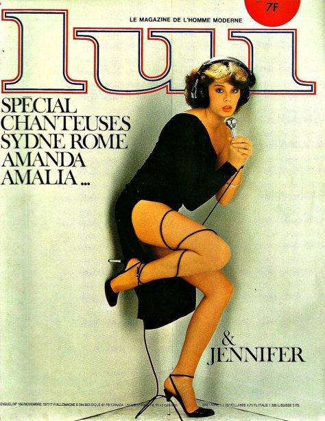 """Copertina della rivista francese """"Lui"""", 1977"""