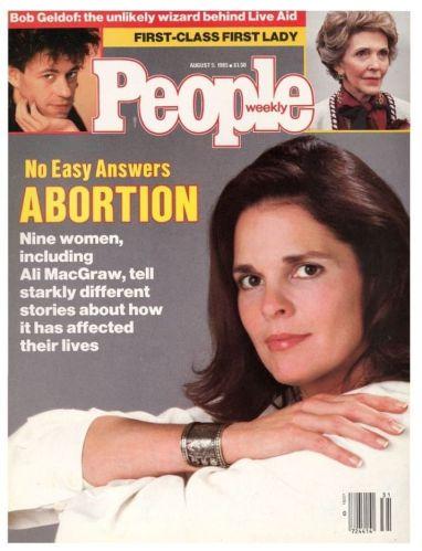 Copertina della rivista People degli anni '80
