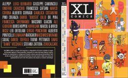 """Copertina e 4a di copertina di """"XL Comics"""", volume a fumetti edito da Panini (2016) che contiene le storie di """"Macaco & Piteco"""" di David Diavù Vecchiato"""