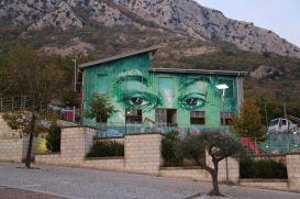 """David Diavù Vecchiato, """"La Natura che guarda il Mondo"""". Mural, Vitulano (BN) - 2017"""