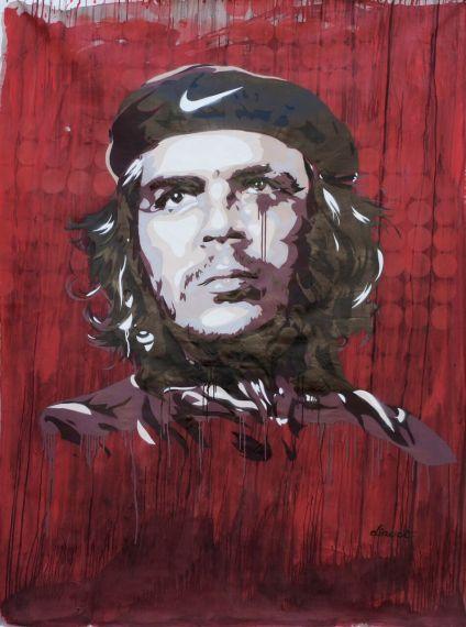 """David Diavù Vecchiato, """"L'Urlo del Che"""". Dipinto, tecnica mista su tela - 2015"""