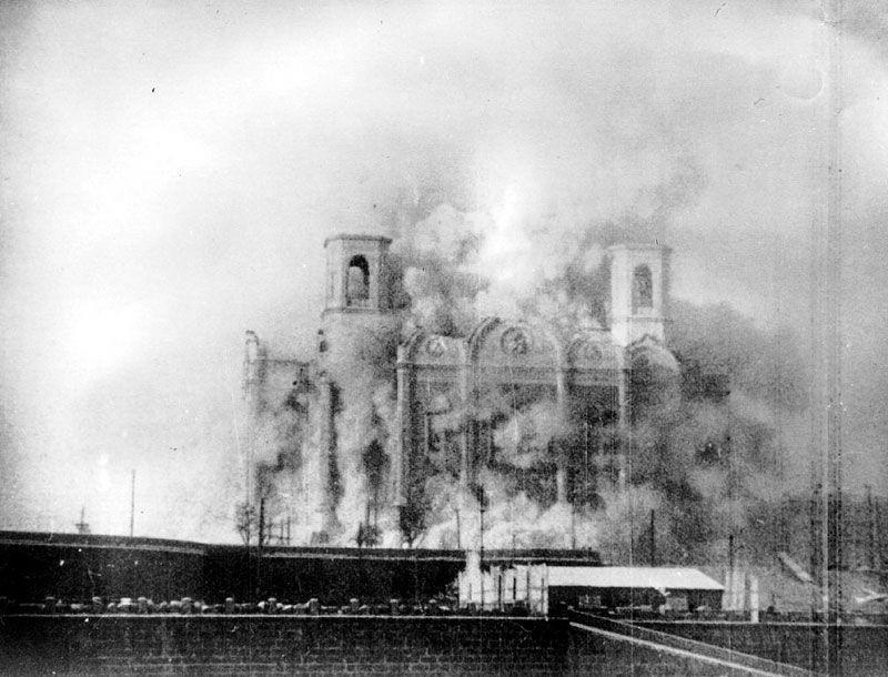 Demolizione del 1931 della Cattedrale di Cristo Salvatore a Mosca