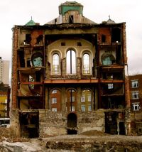 Edificio bombardato in Germania