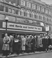 Fotografia atmosferica di Londra nel 1955