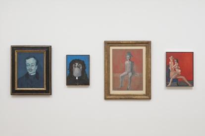 George Condo. Confrontation. Installation view Museum. Berggruen, Nationalgalerie, Staatliche Museen zu Berlin