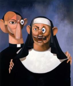 George Condo Nun and Priest, 2007