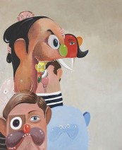 GEORGE CONDO Tumbling Heads, 2006