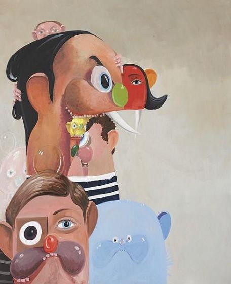 GEORGE CONDO Tumbling Heads, 2006