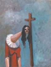 George Condo. Woman with Cross, 2004