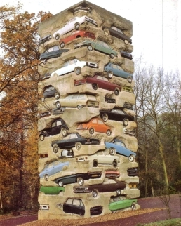 """Long Term Parking"" (1982) by Arman"