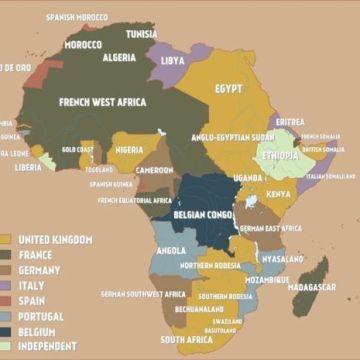La Prima Guerra Mondiale Cartina.Mappa Dell Africa All Inizio Della Prima Guerra Mondiale 1914 Barbara Picci