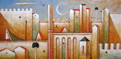 Carlo Mirabasso - Meditation, oil on board, cm 30x60