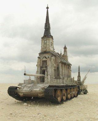 Church Tank by Kris Kuksi