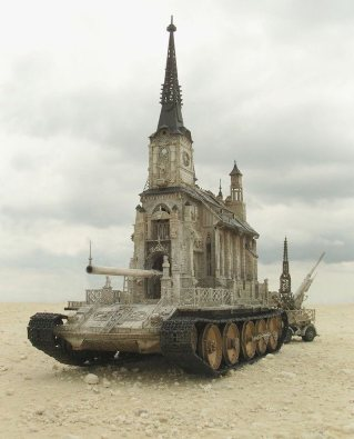 Church Tank by Kris Kuksi