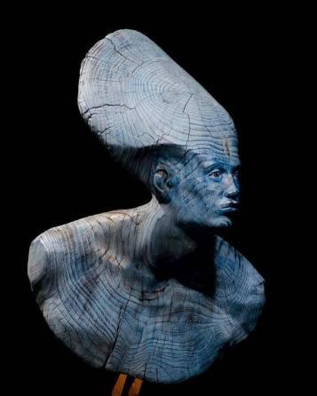 "Davide Galbiati - ""From The Deep"" (chestnut wood) 70 x 40 x 44 cm. 2017"