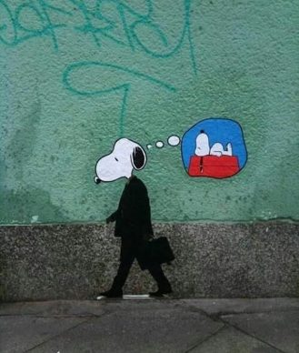 Hard days for Snoopy